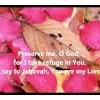Preserve me, O God